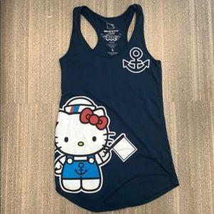 Hello Kitty sailor ahoy Matey racer back tank top